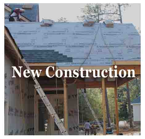 full service roofing contractors, new roof construction